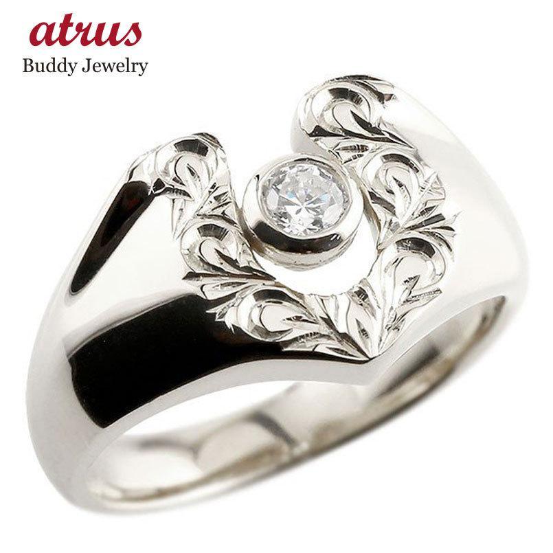 豪奢な ハワイアンジュエリー 蹄鉄 メンズ ダイヤモンド シルバーリングスクロール 印台 ダイヤモンド 指輪 指輪 ダイヤ 一粒 ダイヤモンドリング sv925 蹄鉄 幅広 ストレート 男性用, RINKY DINK:b6b1e9d6 --- bit4mation.de