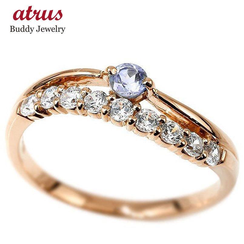 新品 リング ダイヤモンド タンザナイト ピンクゴールドk18 ウェーブ 指輪 18金 ハーフエタニティ 2連リング ダイヤ 12月誕生石 普段使い レディース 送料無料, KITAGO BASE ミニカーショップ 0d410ad8