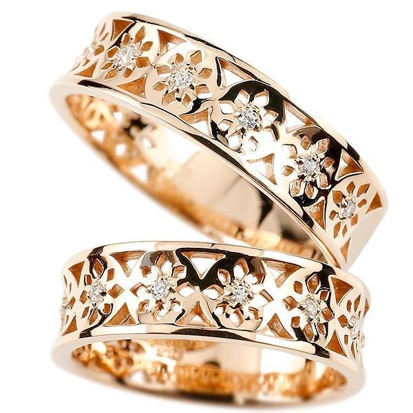 2019特集 結婚指輪 安い 2本セット ペアリング ダイヤモンド ゴールド 10k 10金 ピンクゴールドk10 ダイヤ 指輪 幅広 透かし マリッジリング リング カップル 送料無料, ピュアシルク fa279c93