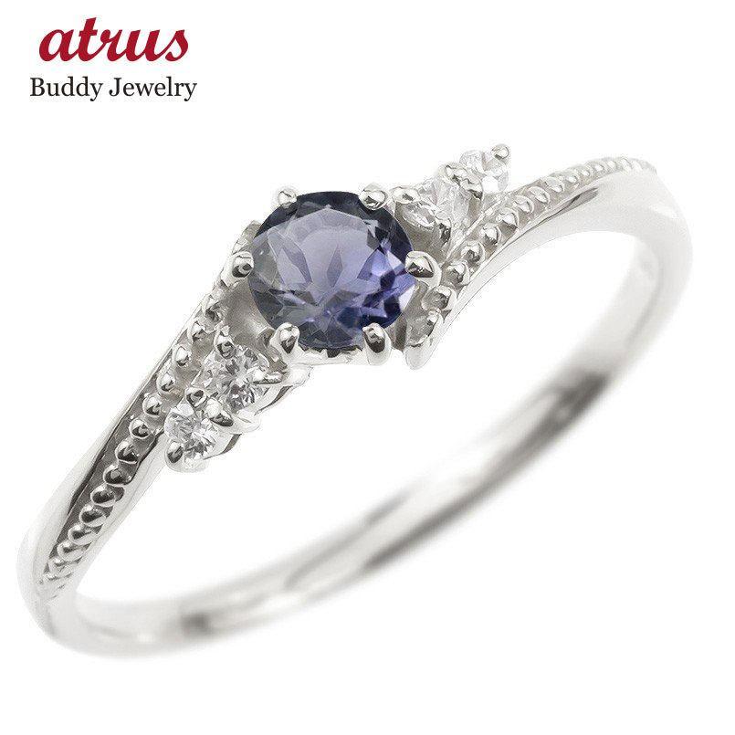 日本に リング ダイヤモンド アイオライト 一粒 レディース 指輪 シルバー925 sv925 婚約指輪 安い ピンキーリング 大粒 ミル打ち 女性 送料無料, cosme de mic 83a3e10b