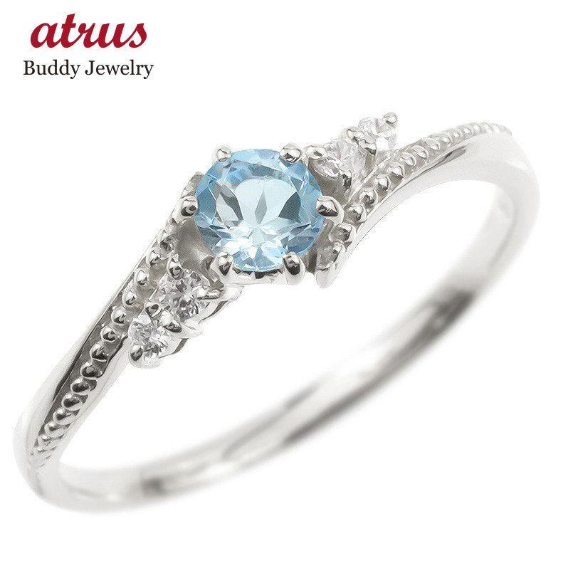 お手頃価格 18金 リング ダイヤモンド ブルートパーズ 一粒 レディース 指輪 18k ホワイトゴールドk18 ゴールド 婚約指輪 安い ピンキーリング 大粒 ミル打ち 送料無料, 激安家具 KA@GU a74ce522