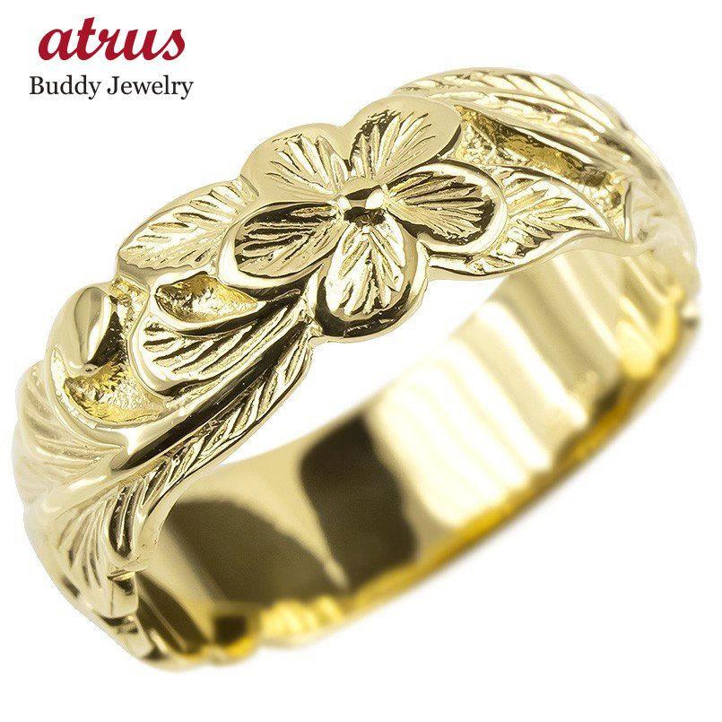 一番の 18金 リング ゴールド レディース ハワイアンジュエリー 指輪 イエローゴールドk18 幅広 婚約指輪 安い プルメリア ピンキーリング 地金 シンプル 女性 送料無料, コスモポリタン 27f3d1c7