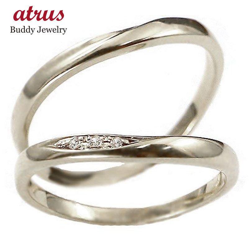 2019人気特価 結婚指輪 安い ゴールド ペアリング 2本セット 18金 ダイヤモンド マリッジリング 地金 ホワイトゴールドk18 18k シンプル 人気 スイートペアリィー 送料無料, 川上郡 998c441a