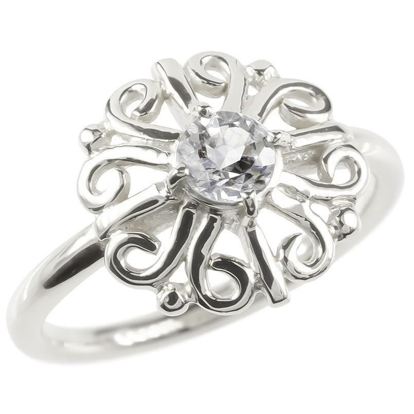 ファッションなデザイン ゴールド リング ダイヤモンド 一粒 大粒 レディース 指輪 ホワイトゴールドk10 婚約指輪 安い エンゲージリング ピンキーリング アラベスク アンティーク 花, エフワン仙台泉大沢 c2353577