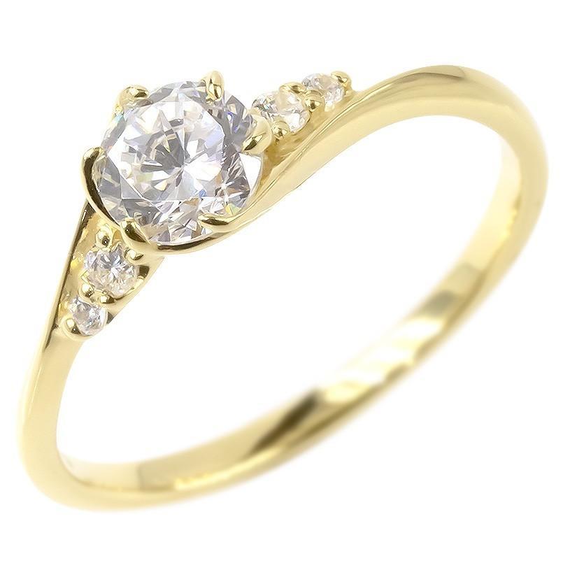 【激安】 18金 リング レディース ダイヤモンド 鑑定書付き VSクラス 婚約指輪 安い エンゲージリング ダイヤ 指輪 ピンキーリング イエローゴールドk18 女性 送料無料, ニッチリッチキャッチ 41b1e3a3