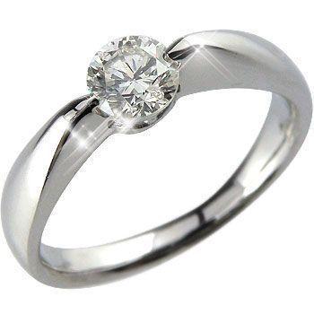 出産祝い 婚約指輪 ダイヤモンド リング エンゲージリング ダイヤ 一粒ダイヤ 大粒ダイヤモンド 0.50 ホワイトゴールドK18 18金 ダイヤモンドリング ストレート 女性, つり具 BLUE MARLIN 38d19436