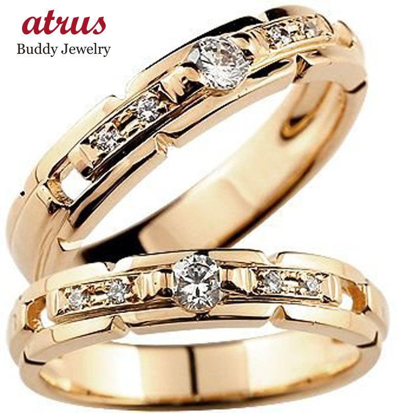 愛用  結婚指輪 マリッジリング 人気 ペアリング ダイヤモンド 結婚式 ピンクゴールドk18 18金 ダイヤ ストレート カップル 男性用 送料無料, インポートコレクションYR 6997623a
