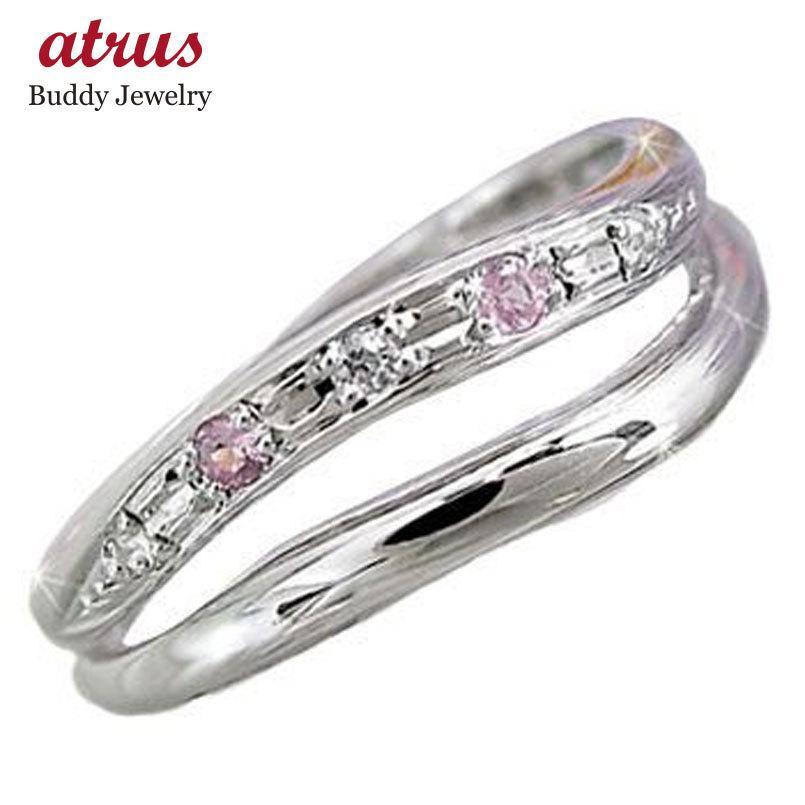 【30%OFF】 ピンキーリング ピンキーリングダイヤモンド ピンクサファイアホワイトゴールドk18指輪 18金 ダイヤ 9月誕生石 ストレート 宝石 送料無料, 枕と眠りのおやすみショップ! c89e5ebb