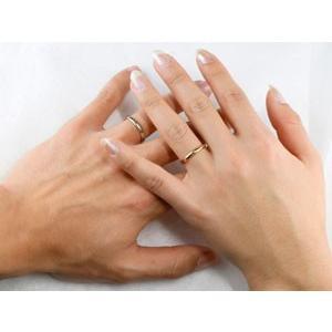 甲丸 ペアリング 指輪 イエローゴールドk10 ホワイトゴールドk10 結婚指輪 マリッジリング 10金 ストレート カップル 2.3 甲丸  プレゼント 女性 送料無料 atrus 04