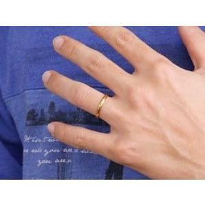 甲丸 ペアリング アメジスト イエローゴールドk18 人気 結婚指輪 マリッジリング 18金 結婚式 シンプル ストレート カップル 宝石  女性 送料無料 atrus 05