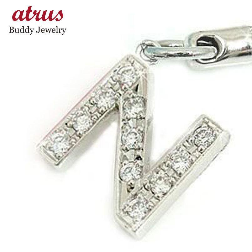 ダイヤモンド イニシャル携帯電話ストラップ プラチナ900ダイヤモンド 0.22ct ダイヤ 送料無料