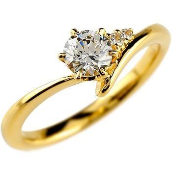 【今日の超目玉】 婚約指輪 レディース 鑑定書付き VS1クラス イエローゴールドK18 ダイヤモンド ダイヤ 18金, 大勧め a4c6c014