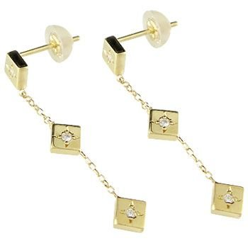 新しい ピアス メンズ ダイヤモンド イエローゴールドk18 18金 ダ, レンズバーゲン ae039c93