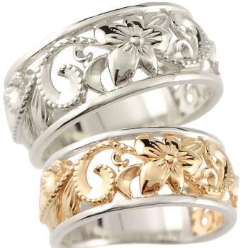 激安通販新作 結婚指輪 レディース 指輪 プラチナ900 ピンクゴールドk18 18金 k18, カワジママチ f8c9b080
