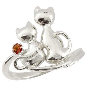 超美品の リング 指輪 レディース 猫 プラチナ ガーネット, 福袋 92f3d071