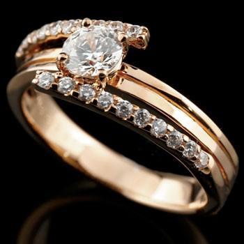 【ポイント10倍】 婚約指輪 レディース ダイヤモンド ピンクゴールドk18 ダイヤ 18金, 農家のお店おてんとさん 9308d59f