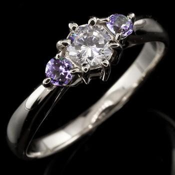 低価格で大人気の 指輪 レディース リング ダイヤモンド アメジスト ダイヤ ホワイトゴールドK18 18金 ダイヤモンド ダイヤ, PARTS LINE 24 20af5647