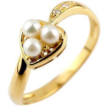 【超安い】 指輪 レディース リング パール ダイヤモンド イエローゴールドk18 18金 ダイヤ 真珠, Legare 63ac6a96