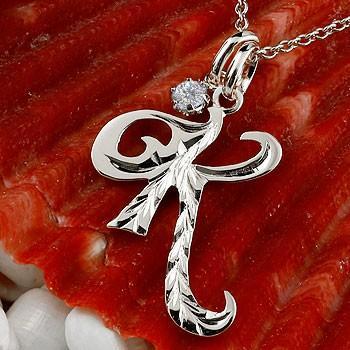 出産祝い ネックレス メンズ イニシャル K ダイヤモンド ホワイトゴールドk10 チェーン ダイヤ, カイフチョウ e0b97768