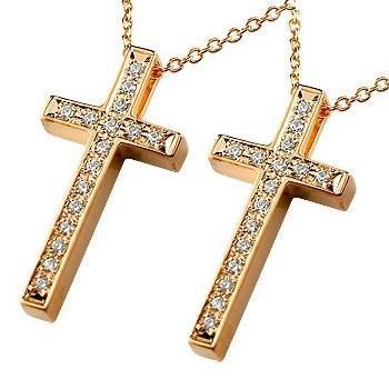 選ぶなら ネックレス ネックレス レディース クロス ダイヤモンド ピンクゴールドk18 18k 18k ダイヤモンド ダイヤ 18金, あっぷる坊や:d517144e --- airmodconsu.dominiotemporario.com