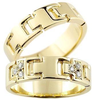競売 結婚指輪 レディース 指輪 ダイヤモンド イエローゴールドK18 ダイヤ 18金, INVENTER 3d07f927