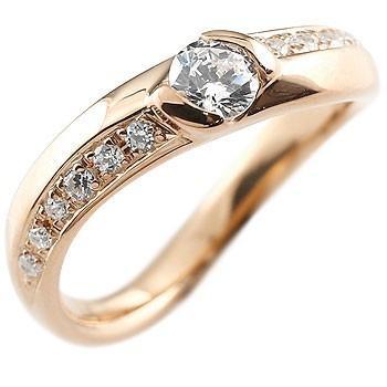 【税込】 婚約指輪 レディース 鑑定書付き ダイヤモンド ダイヤ ピンクゴールドk18 ダイヤモンド VSクラス 18金, 快適クラブ 30b4fc64