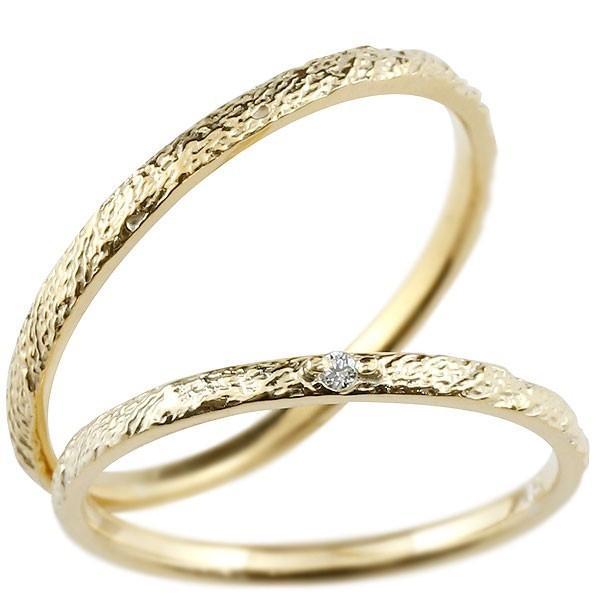 【日本未発売】 結婚指輪 メンズ イエローゴールドk18 ダイヤモンド 18金, aNYtime aae780f1