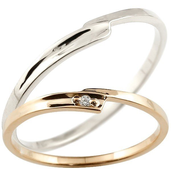 【高知インター店】 結婚指輪 メンズ 結婚指輪 メンズ ダイヤモンド ダイヤモンド ピンクゴールドk18 ホワイトゴールドk18 18金, 海心:70be6725 --- airmodconsu.dominiotemporario.com