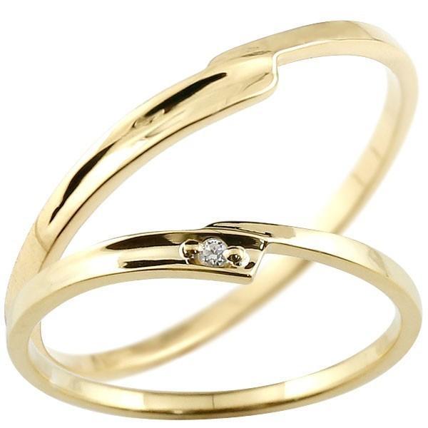 素晴らしい品質 結婚指輪 レディース 指輪 ダイヤモンド イエローゴールドk10, CUORE b62b91c0