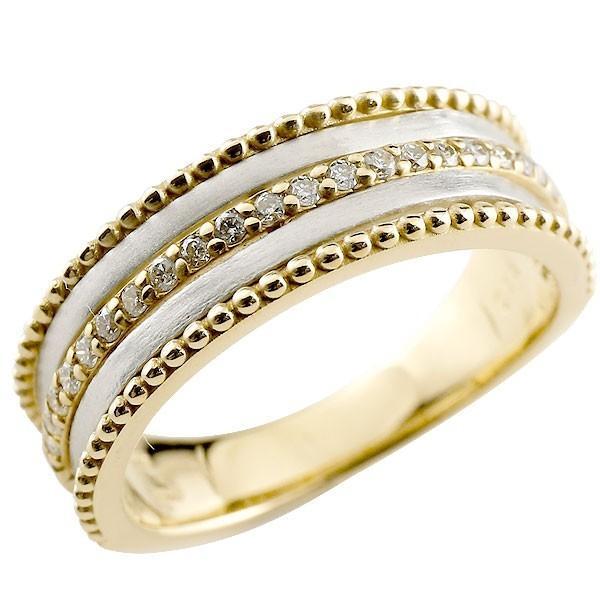 完璧 結婚指輪 メンズ ダイヤモンド ダイヤ イエローゴールドk18 プラチナ, リビングプラザ c7b5c61a