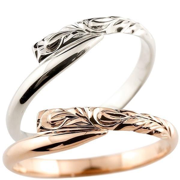 柔らかい 結婚指輪 レディース 指輪 ホワイトゴールドk18 ピンクゴールドk18 k18, マットラボ 45f027b9