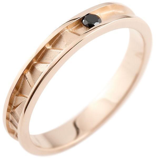 本店は 指輪 レディース リング ブラックダイヤモンド ダイヤ ピンクゴールドk18 18金, フタバグン bd0436e8