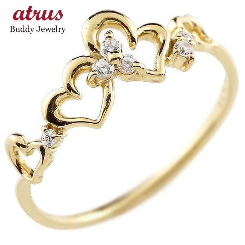 【お得】 指輪 レディース リング イエローゴールドk18 ダイヤモンド k18, アサミナミク 1b53c2b3