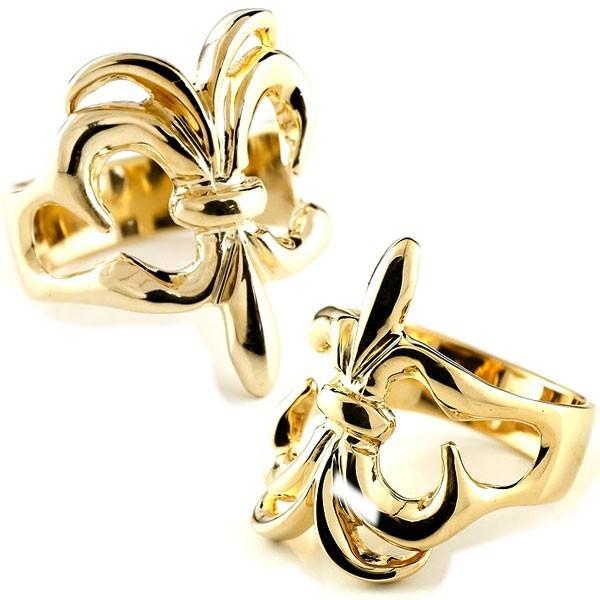 売れ筋商品 結婚指輪 レディース 指輪 ユリの紋章 イエローゴールドk10, CROW 湘南バイカーズショップ a7c00609