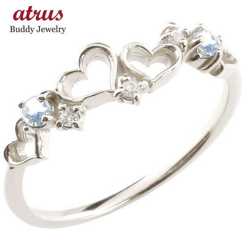 限定版 指輪 レディース リング ダイヤモンド ブルームーンストーン ホワイトゴールドk10, ドライブマーケット 553cc78a