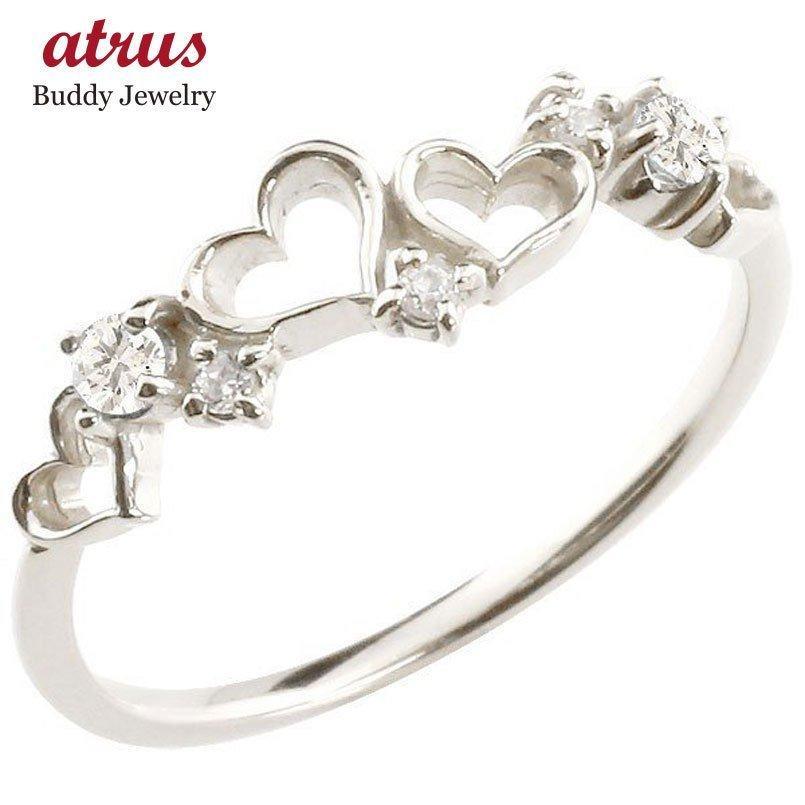 【サイズ交換OK】 指輪 レディース リング キュービックジルコニア ホワイトゴールドk10, 伊香保グリーン牧場 db805e50
