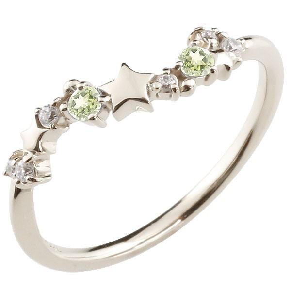 フジオカシ 指輪 レディース リング ペリドット ダイヤモンド, カフ電器 68cb295b