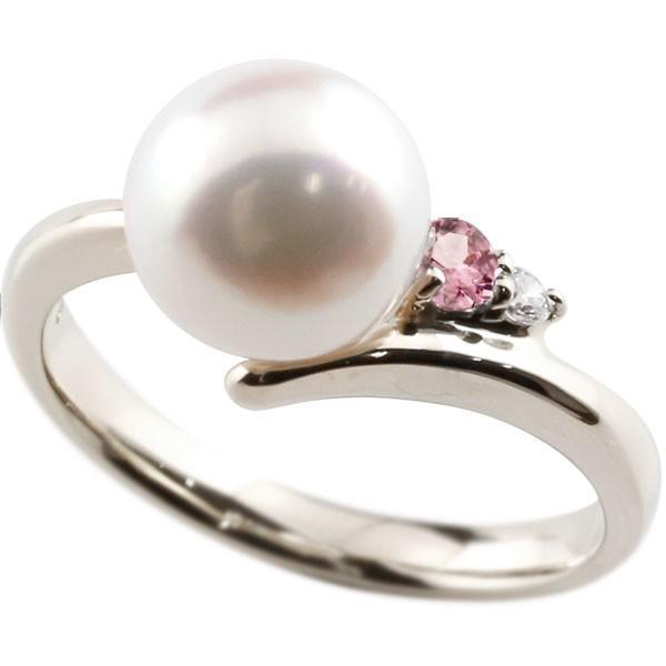 絶対一番安い 指輪 レディース リング パール 真珠 ピンクトルシルバー925 ダイヤモンド ダイヤ, ヒバグン aea9b79a