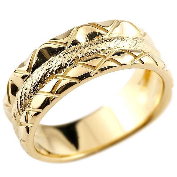 【1着でも送料無料】 リング メンズ 指輪 イエローゴールドk18 18金, イチノセキシ f8e68d3a