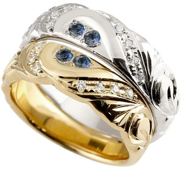 人気特価激安 結婚指輪 レディース 指輪 サファイア ダイヤモンド イエローゴールドk18 ホワイトゴールドk18 18金, 飯山町 01dcc0b1