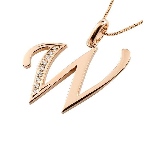 生まれのブランドで ネックレス メンズ イニシャル W ダイヤモンド ピンクゴールドk18 チェーン 18金 ダイヤ, ベンチシート専門店ゴールドリーフ 14c2ebc6
