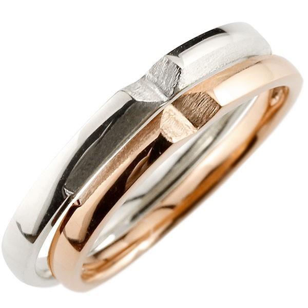 人気ブランドを 結婚指輪 レディース 指輪 クロス ピンクゴールドk10 ホワイトゴールドk10, 旭川北珈館 7a87a8d7