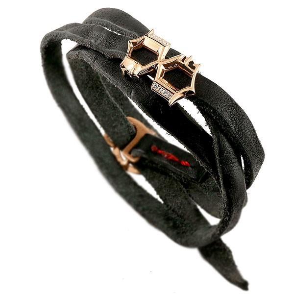 最新入荷 ブレスレット メンズ ダイヤモンド 数字 8 3周巻き ブラック ピンクゴールドk10, ベリーズマリン 0f0cada5