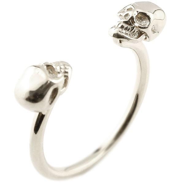 贅沢屋の 指輪 レディース リング ドクロ フォーク フリーサイズ ホワイトゴールドk10, ダイシン+1 e99a6ade