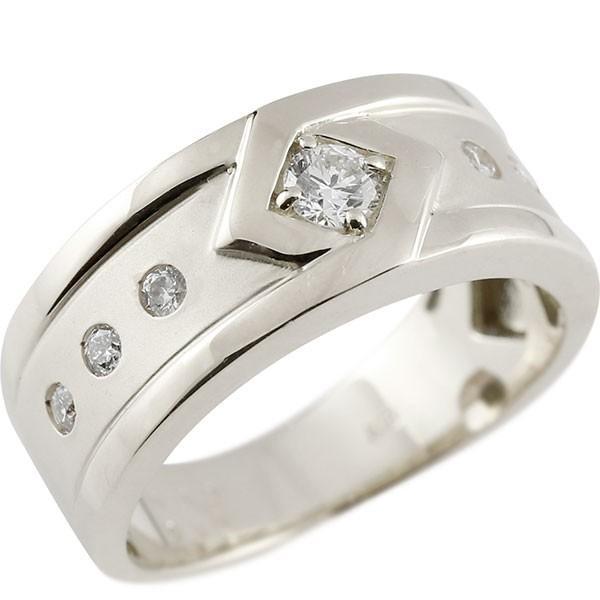 【新品、本物、当店在庫だから安心】 リング メンズ 指輪 プラチナ ダイヤモンド ダイヤ, おしか商店 e55d4d97