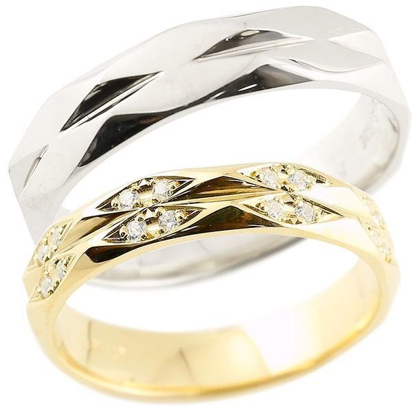 【おすすめ】 結婚指輪 レディース 指輪 指輪 キュービックジルコニア 結婚指輪 ホワイトゴールドk10 菱形 イエローゴールドk10 菱形, ソレイユ:480c35c3 --- airmodconsu.dominiotemporario.com