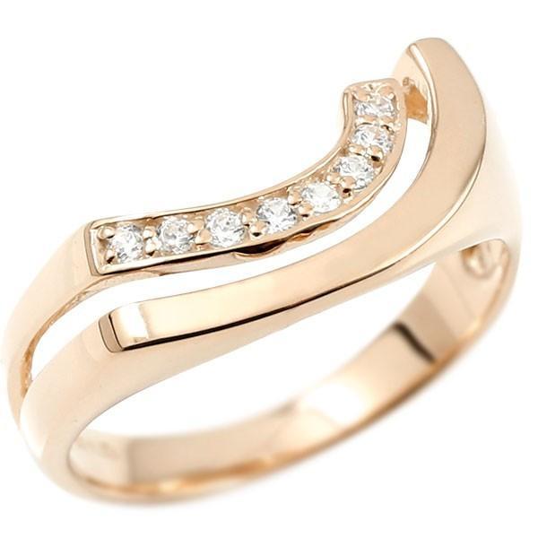 【在庫有】 指輪 レディース リング レディース ダイヤモンド ピンクゴールドk10, 由比町:afe32778 --- airmodconsu.dominiotemporario.com