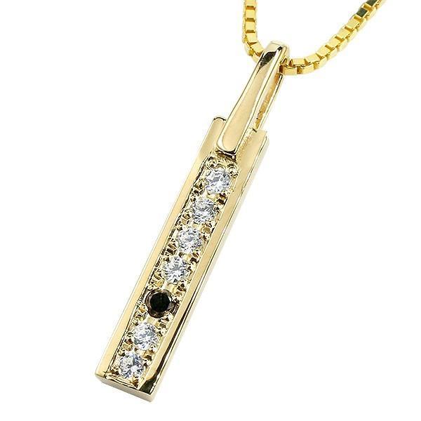爆売り! ネックレス メンズ イエローゴールドk18 バー ブラックダイヤモンド 18金 18k チェーン プレート, Walkie-Lookie c34300b6