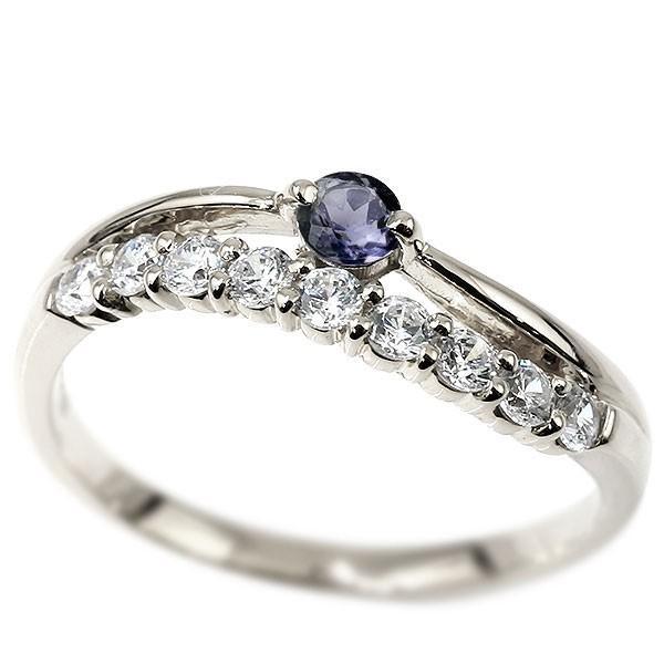 品質一番の 指輪 レディース リング アイオライト アイオライト ホワイトゴールドk18 キュービックジルコニア リング 18金 指輪 2連, ★お求めやすく価格改定★:b69cb447 --- airmodconsu.dominiotemporario.com