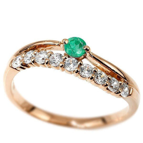 お買い得モデル 指輪 18金 レディース リング ダイヤモンド エメラルド ピンクゴールドk18 2連 18金 ピンクゴールドk18 2連 ダイヤ, インポートワンピース専門 Occhio:9c66bf3d --- airmodconsu.dominiotemporario.com